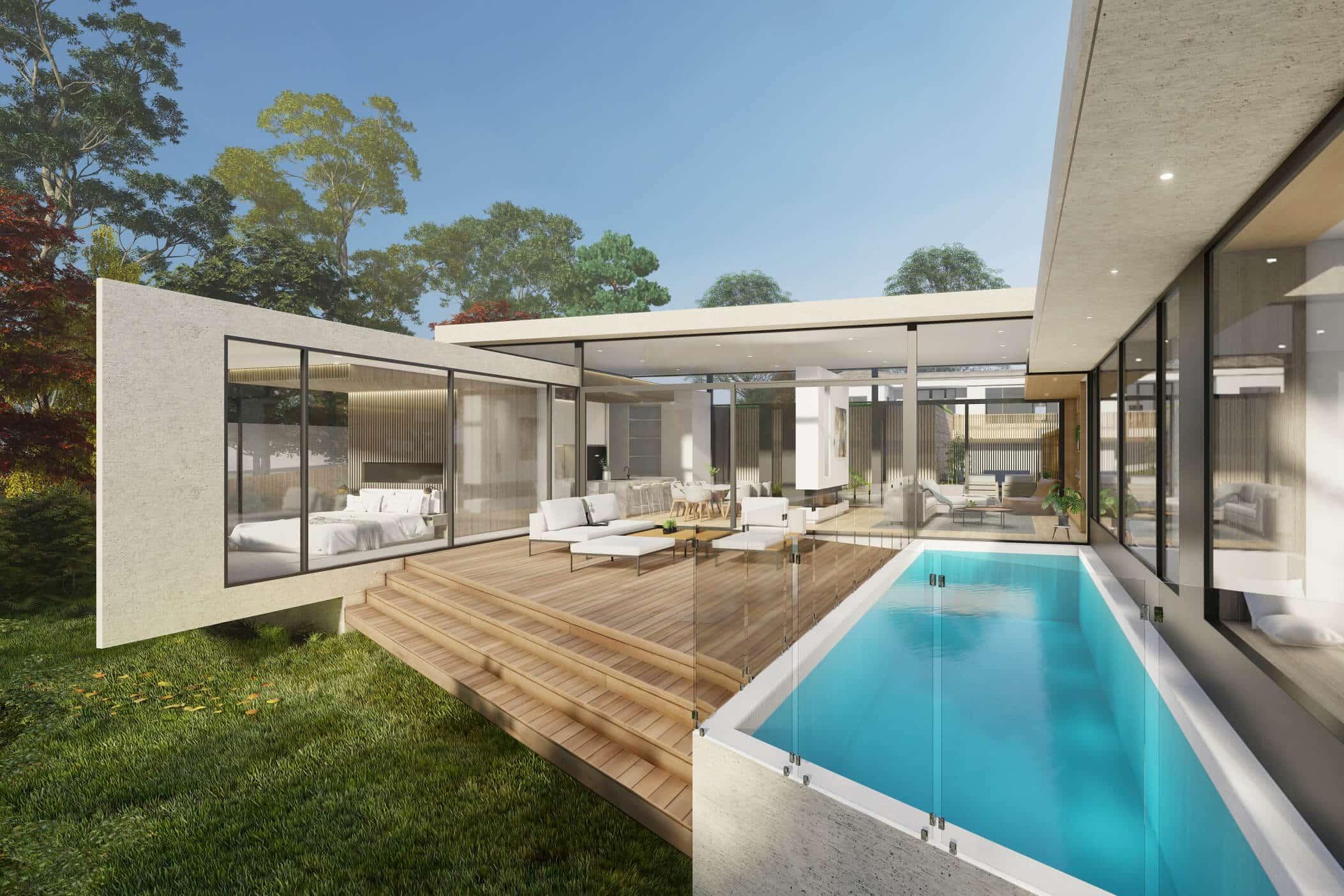 Mt Eliza House architecture glass house designed by Sky Architect Studio