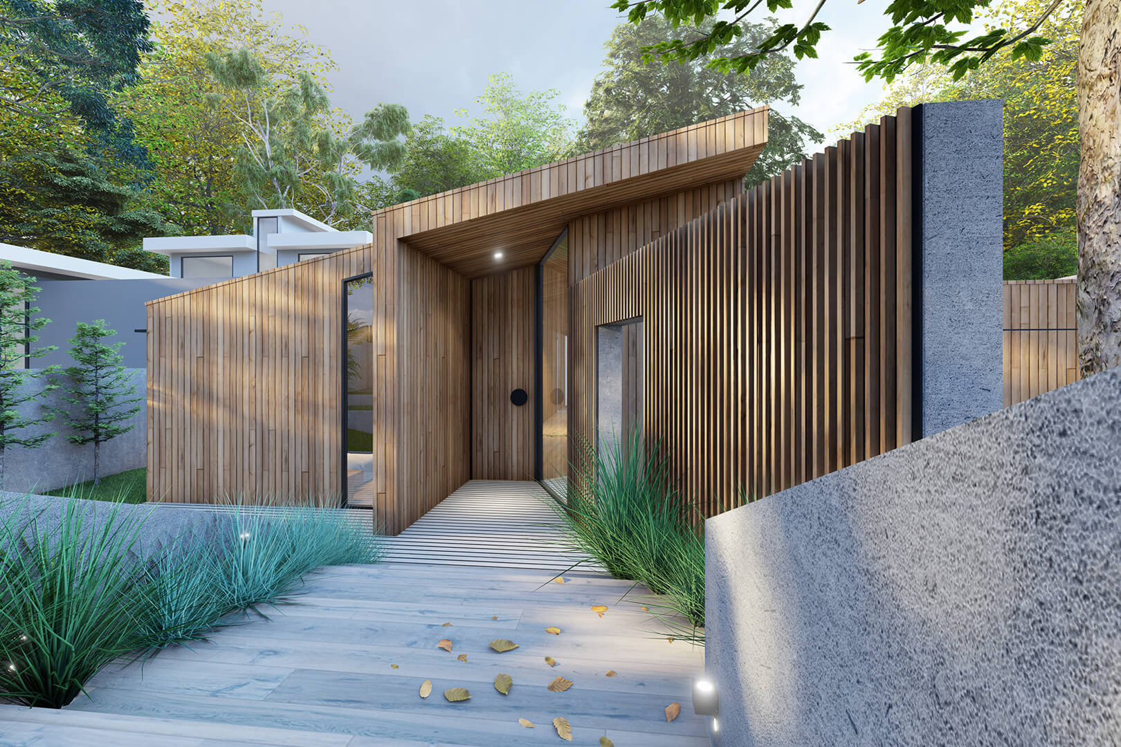 Eaglemont Timber House Mid century modern architecture house designed by Sky Architect Studio
