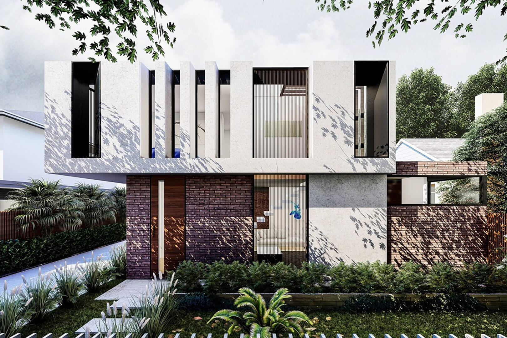 3 Unit Contemporary Townhouses in reservoir designed by Sky Architect Studio