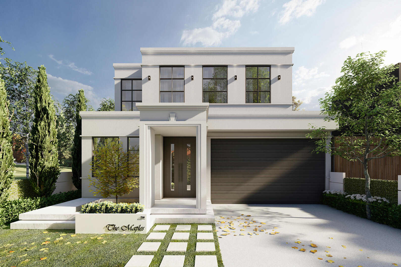 Greenvale French Provincial House - Melbourne Architecture home designed by Sky Architect Studio